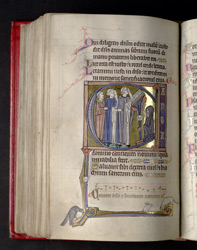 Clerics Singing, In A Historiated Initial, In 'The Grandisson Psalter'